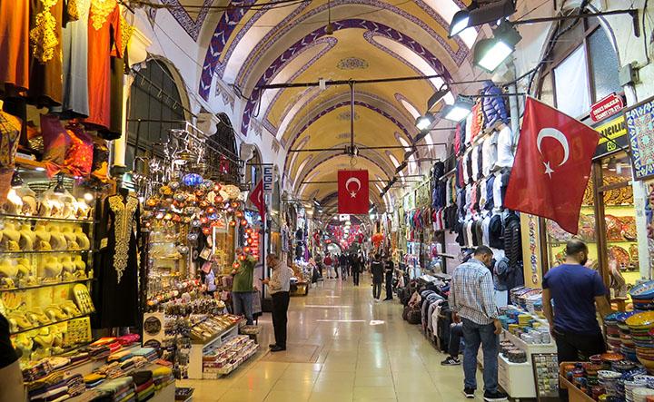 O Grand Bazar - em Istambul, Turquia