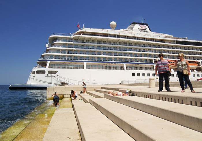 órgão marítimo em Zadar, Croácia