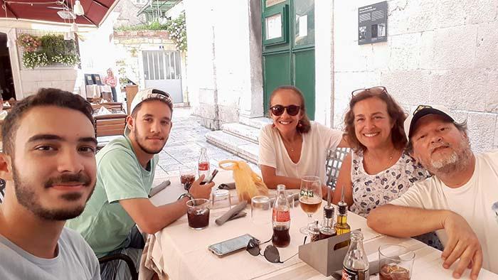 restaurante em Split, Croácia