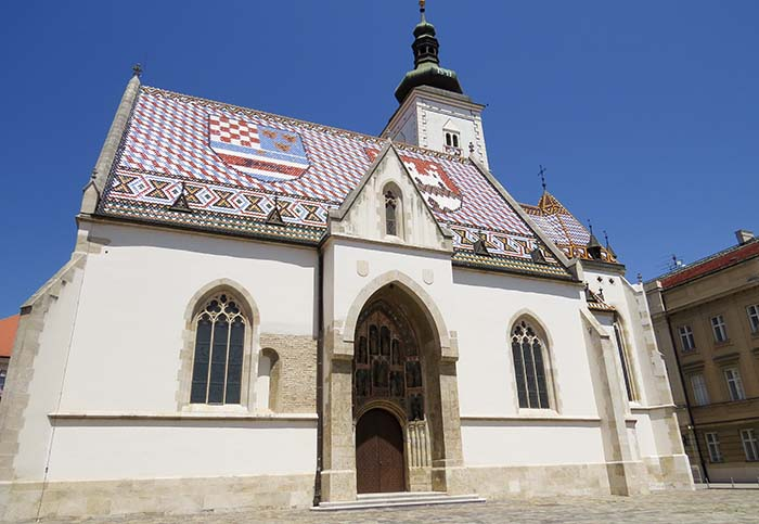 Igreja de São Marcos, em Zagreb, Croácia