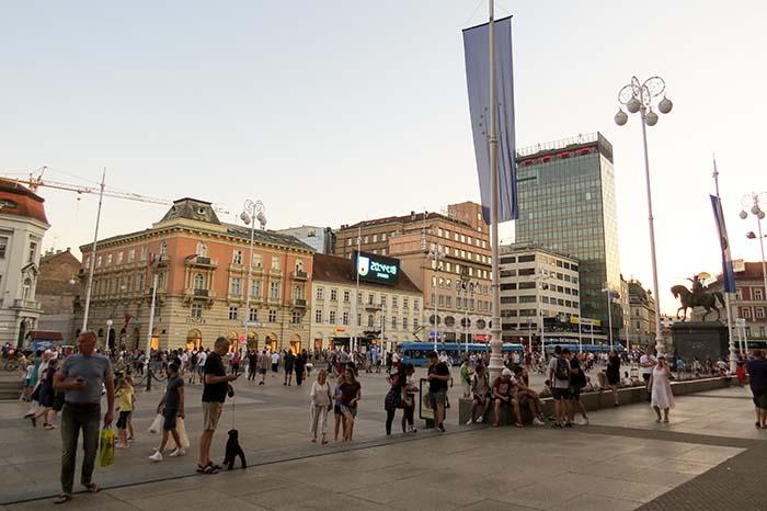 centro da cidade de Zagreb, na Croácia
