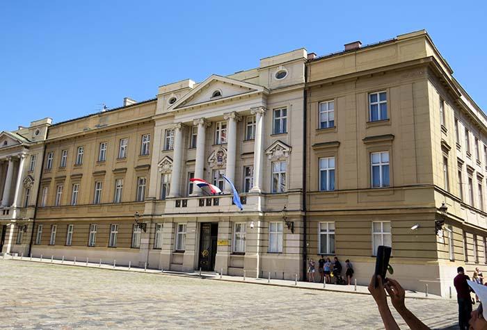 Parlamento croata, em Zagreb, Croácia