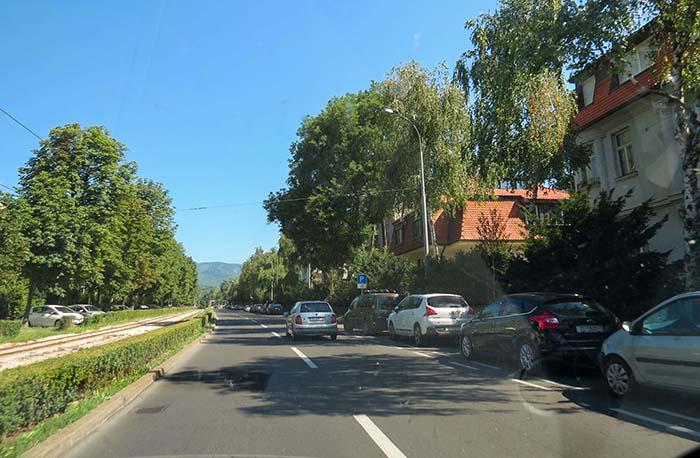 As ruas da cidade alta, em Zagreb, Croácia