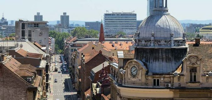 Zagreb, capital da Croácia, vista do alto