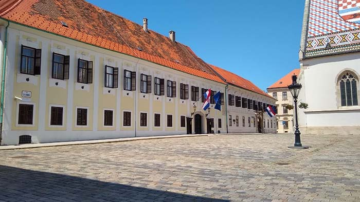 A sede do governo croata
