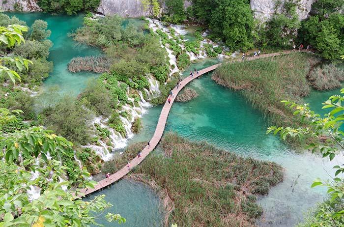 Lago Kozjak, na Croácia