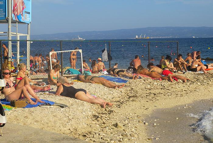 Bačvice Beach, em Split, Croácia