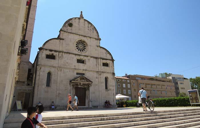 Igreja de Santa Maria, em Zadar, na Croácia