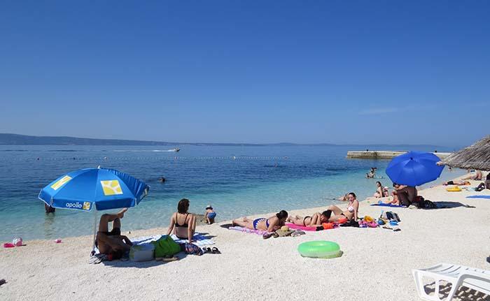 Praia em Split, Croácia