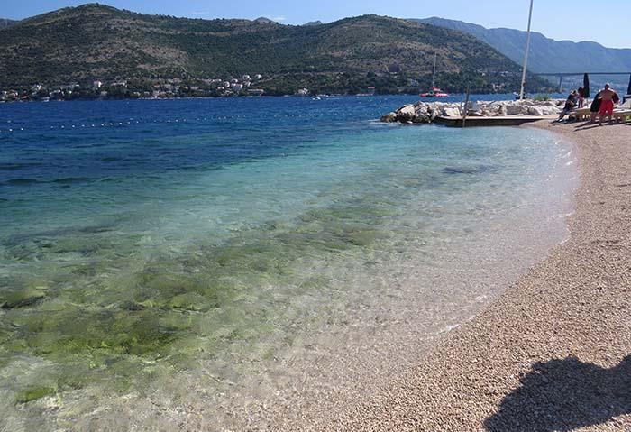 Cava Beach, em Dubrovnik, Croácia