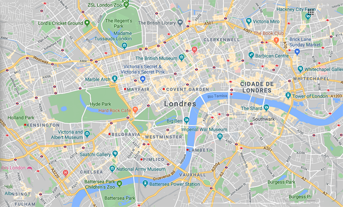 Londres - Google Map