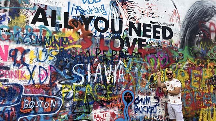 John Lennon Wall, em Praga