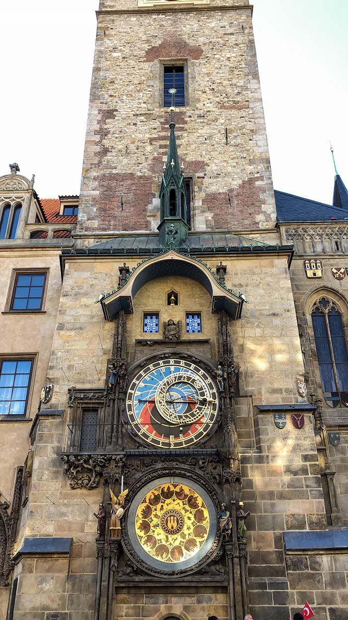Relógio astronômico, em Praga.