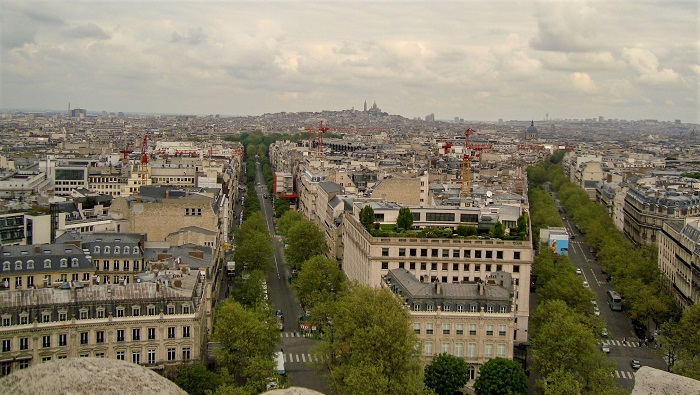 vista do Arco do Triunfo, Paris
