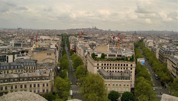vista do Arco do Triunfo, Paris