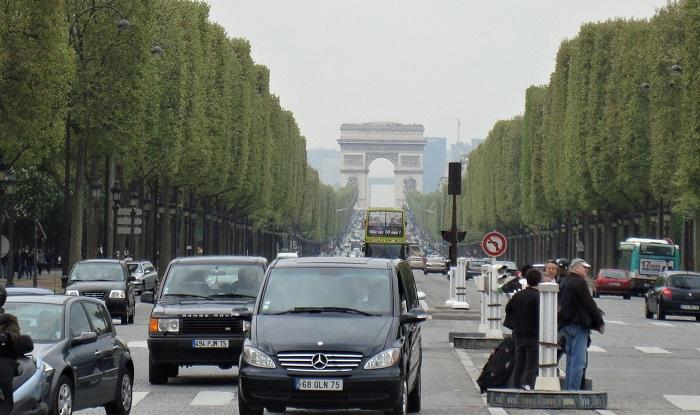 Champs Élysées, em Paris