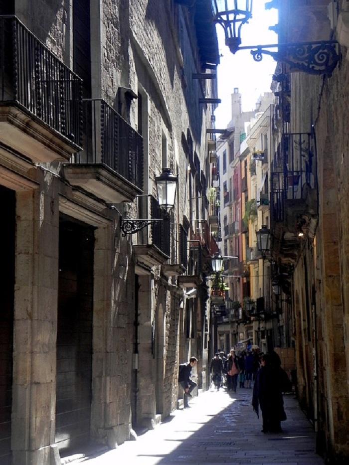 Ruelas, no Bairro Gótico, em Barcelona