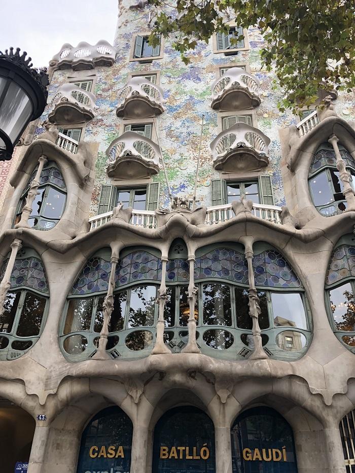 Faixada da Casa Batlló, em Barcelona
