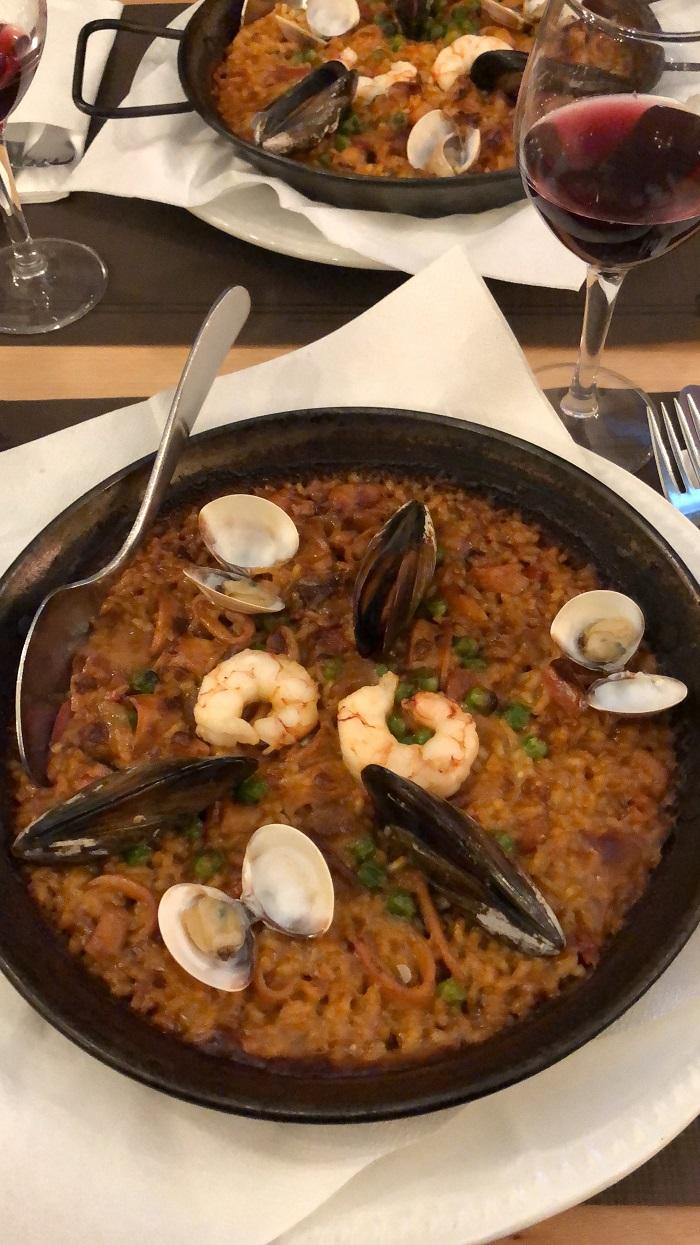Paella, servida em Barcelona