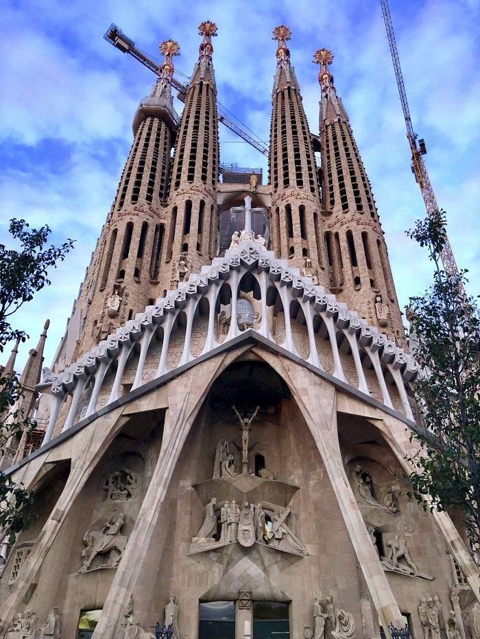 Faixada da Paixão, na Sagrada Família.