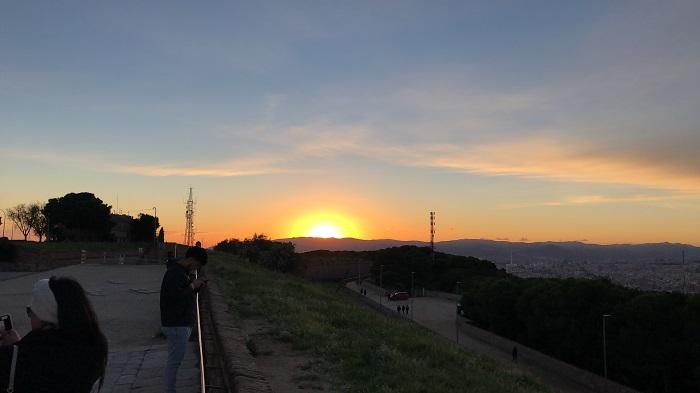 Pôr do sol do Castelo de Montjuïc