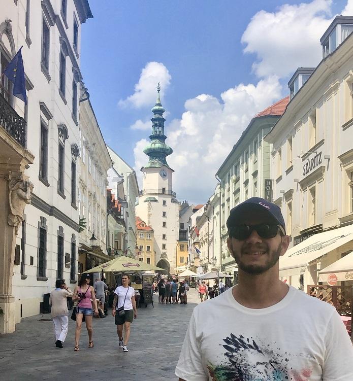 Entorno do Portão de São Miguel, em Bratislava