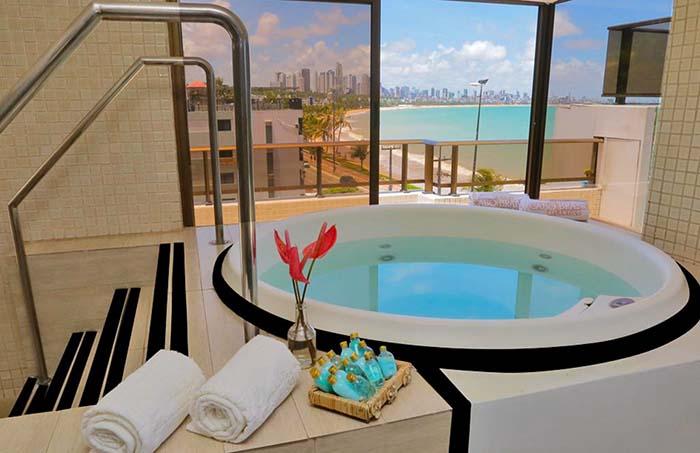 spa do Hotel Cabo Branco Atlântico, em João Pessoa, Paraíba