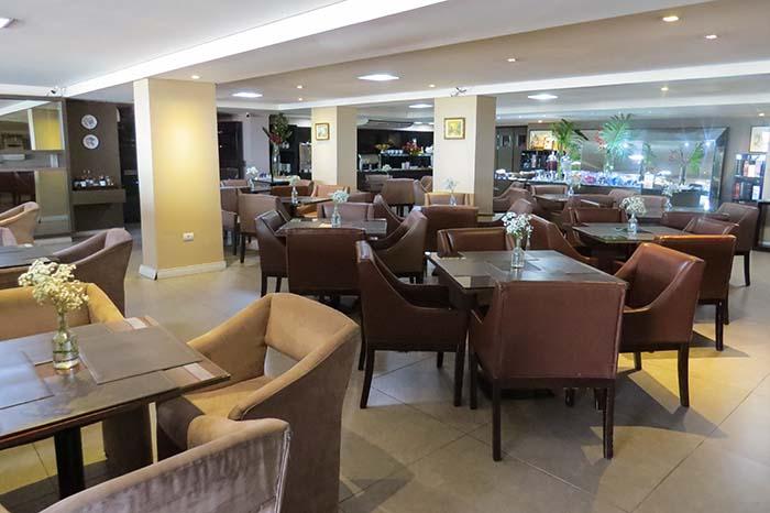 Café da manhã do Hotel Cabo Branco Atlântico, em João Pessoa, Paraíba