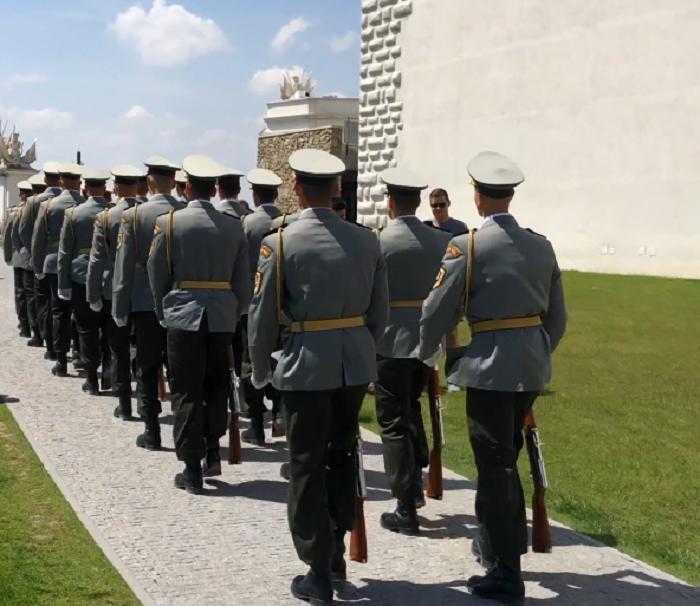 Troca da guarda no Castelo de Bratislava