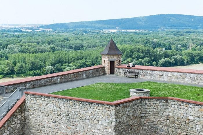Vista de cima do Castelo de Bratislava
