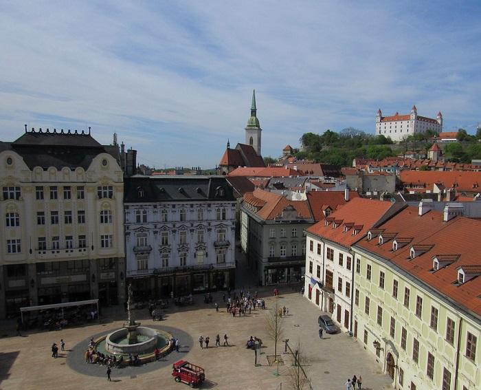 Vista da Praça Hlavné