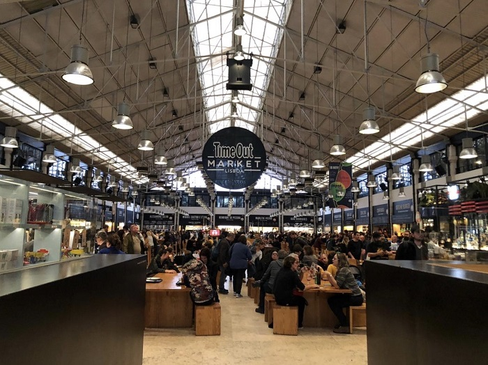 Mercado da Ribeira, transformado no Time Out Market, em Lisboa