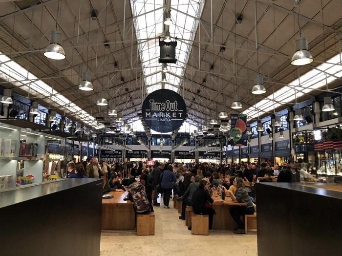 Mercado da Ribeira, transformado no Time Out Market, em Lisboa