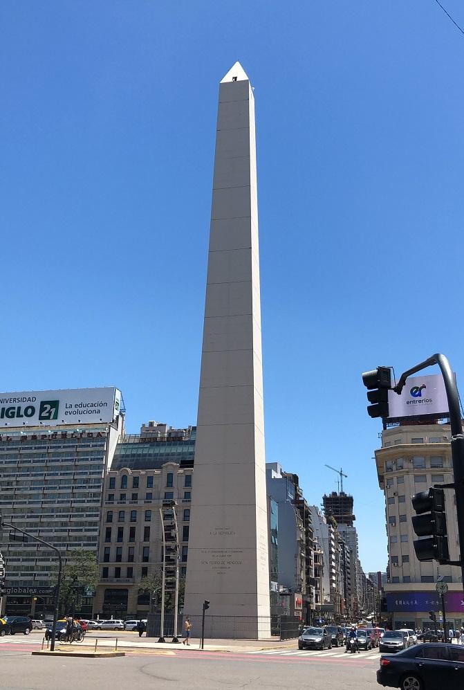 Obelisco, na venida 9 de Julho, um dos símbolos da cidade de Buenos Aires
