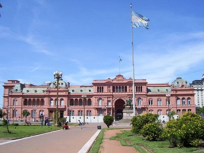 Casa Rosada, na Plaza de Mayo, em Buenos Aires