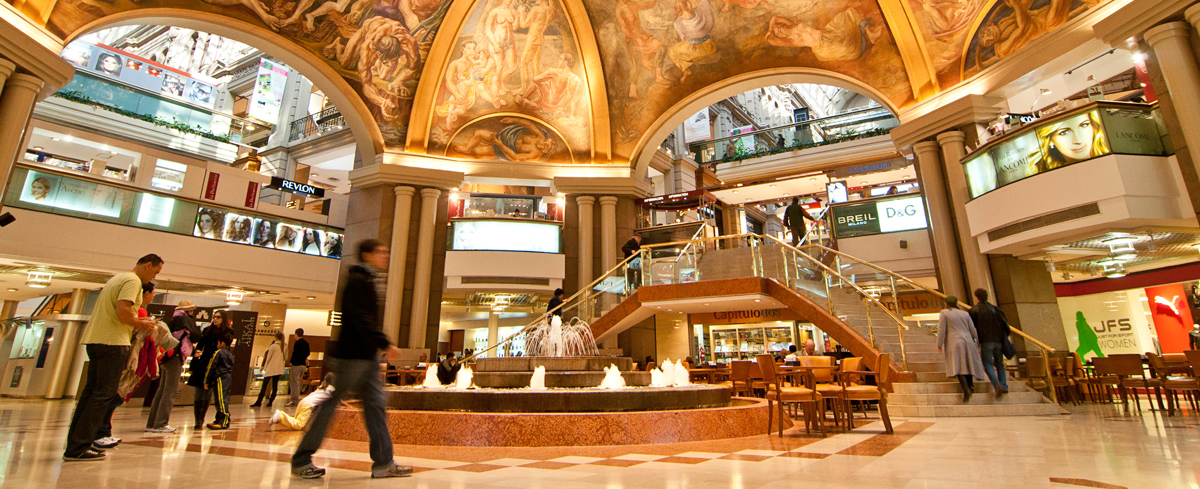 Afrescos na cúpula central das Galerías Pacífico, em Buenos Aires (imagem:https://turismo.buenosaires.gob.ar/)