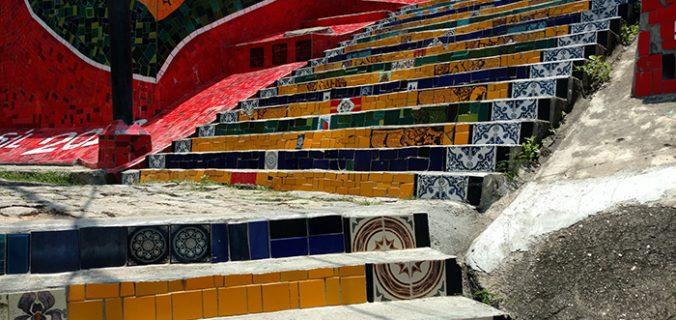 Escadaria Selarón, no Rio de Janeiro