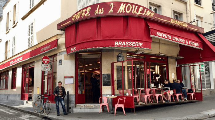 Cafe les 2 moulins, em Paris