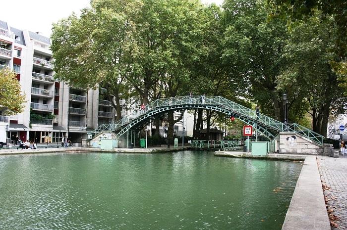 Canal de St. Martin, em Paris