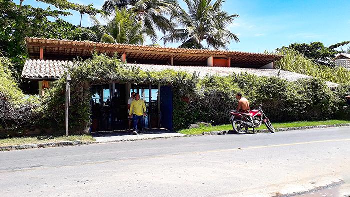 Fahada do Restaurante Caiuia, em Japaratinga, Alagoas