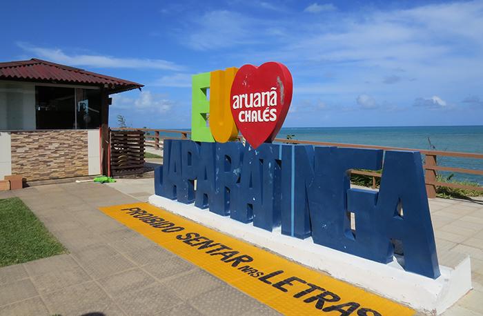 Letreiro em Japaratinga, Alagoas