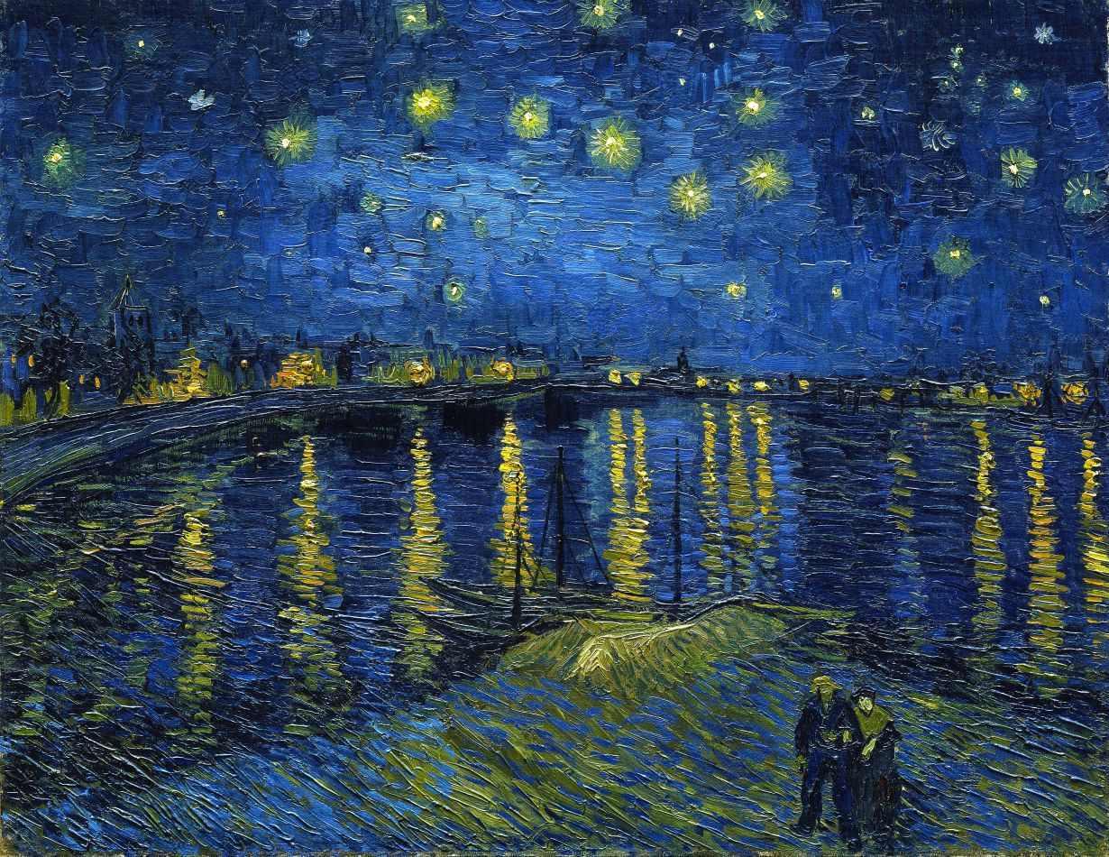 Noite Estrelada, Van Gogh, no Museu D'Orsay, Paris