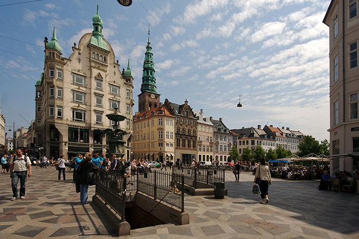 Stroget, em Copenhague, Dinamarca