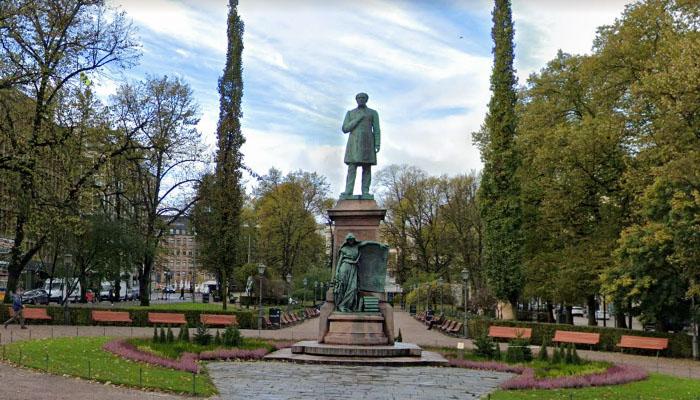 Esplanade Park, em Helsinque, Finlândia
