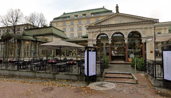 Restaurante Kappeli, em Helsinque, Finlândia.
