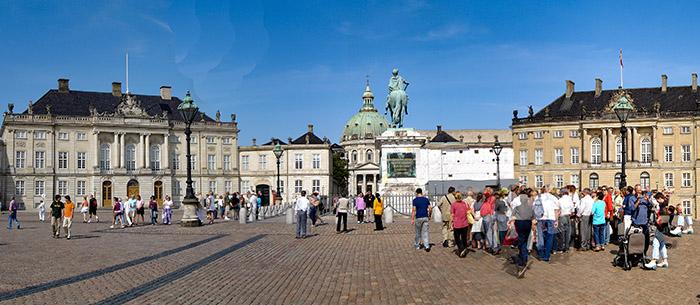 Amalienborg, em Copenhague, Dinamarca