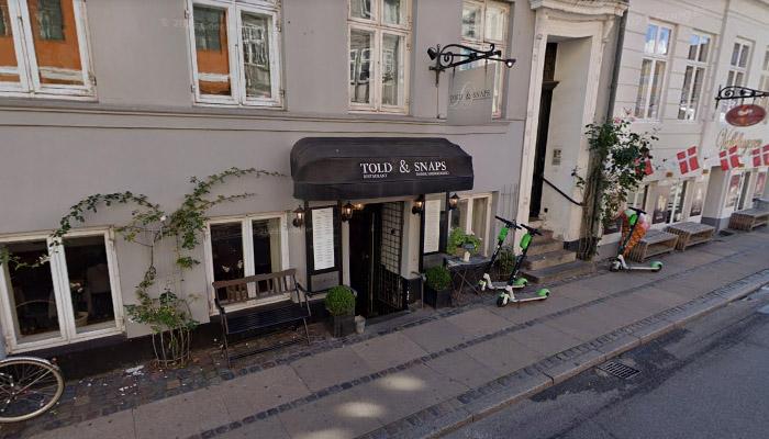Told & Snaps - endereço de restaurante típico da Dinamarca.